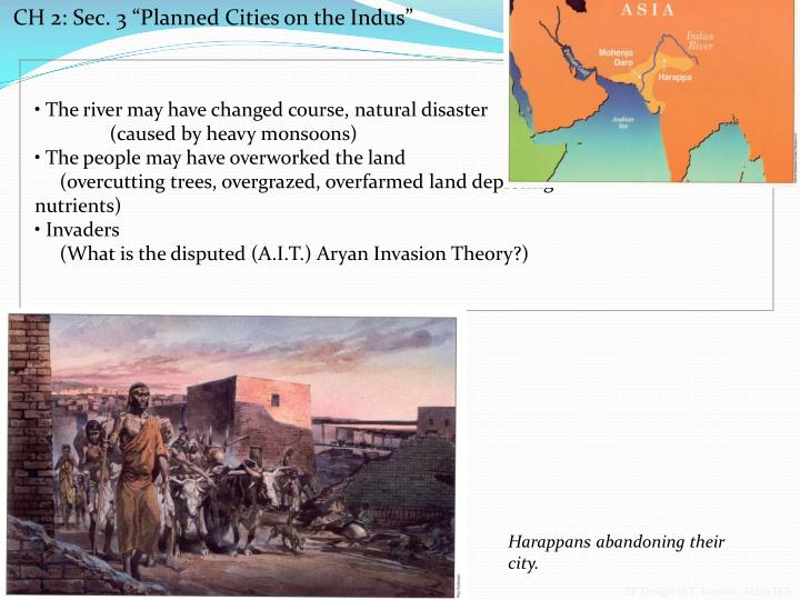"""CH 2: Sec. 3 """"Planned Cities on the Indus"""""""