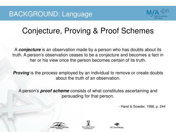 BACKGROUND: Language