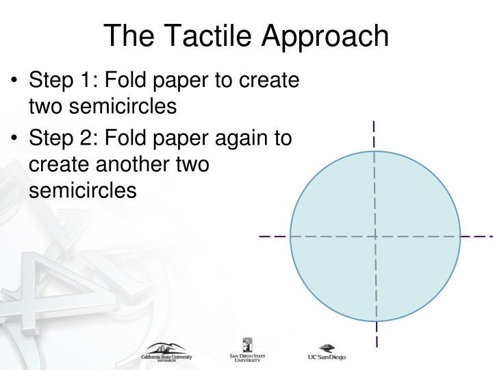 Step 1: Fold paper to create two semicircles