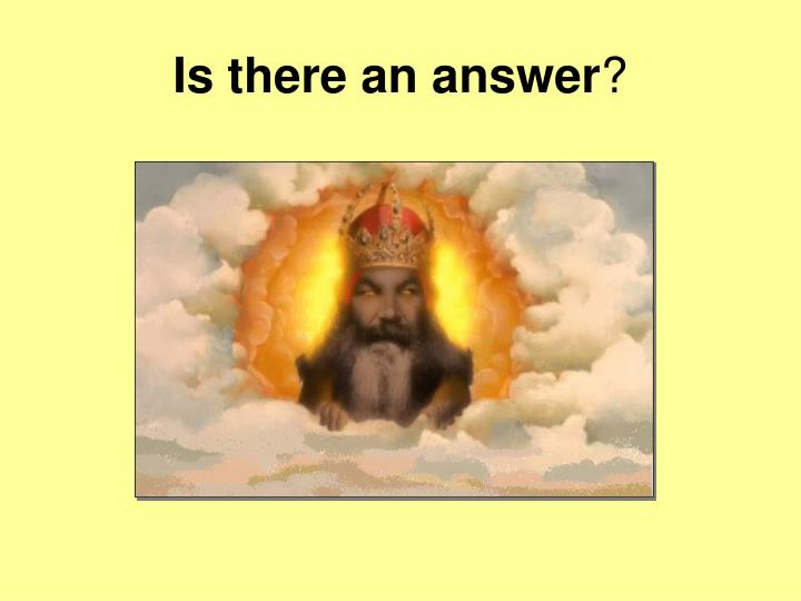 Is there an answer