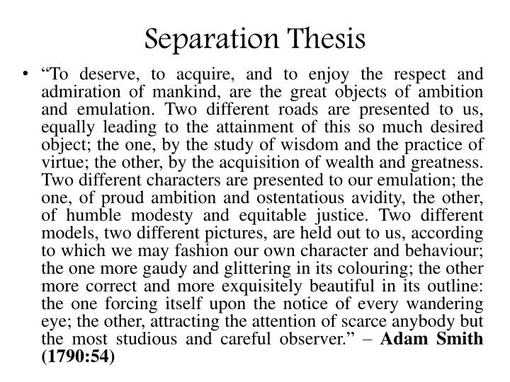 Separation Thesis