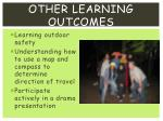 other learning outcomes