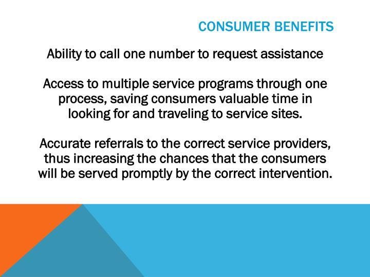 Consumer Benefits