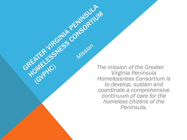 Greater Virginia Peninsula Homelessness Consortium (GVPHC)