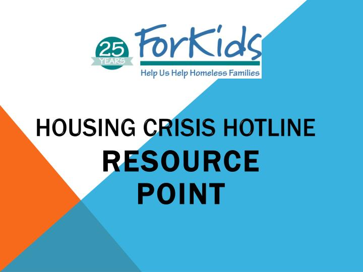 Housing Crisis Hotline
