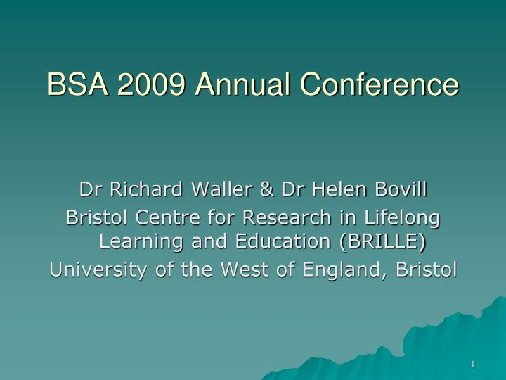 bsa 2009 annual conference