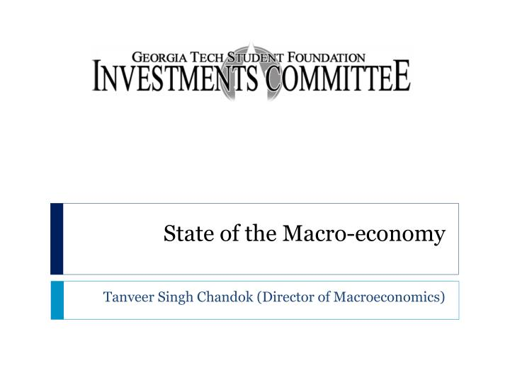 state of the macro economy n.