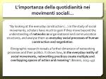 l importanza della quotidianit nei movimenti sociali