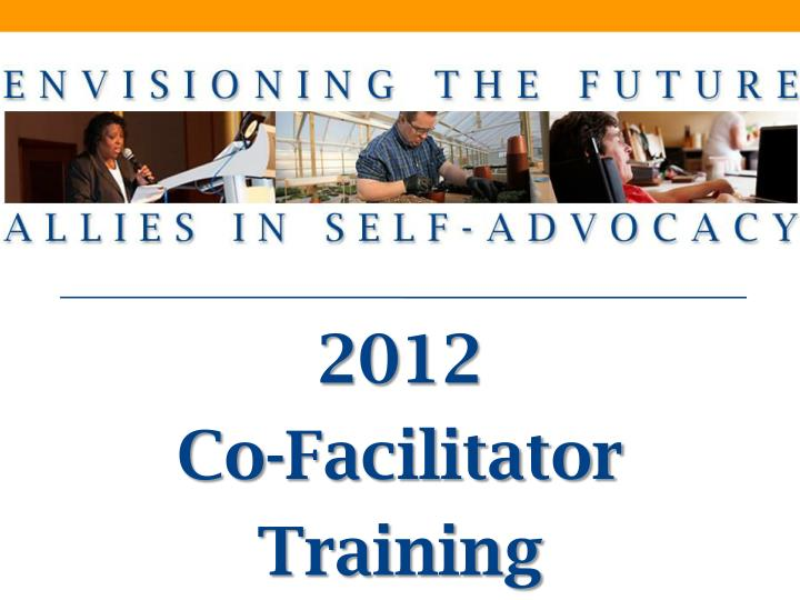 2012 co facilitator training