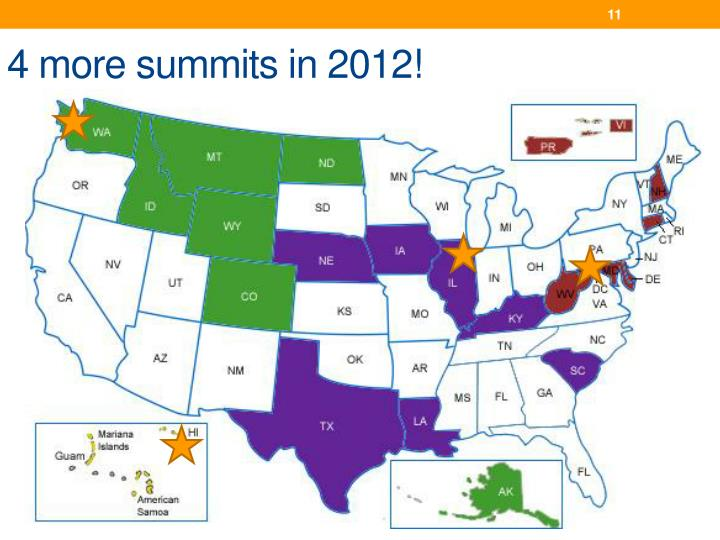 4 more summits in 2012!