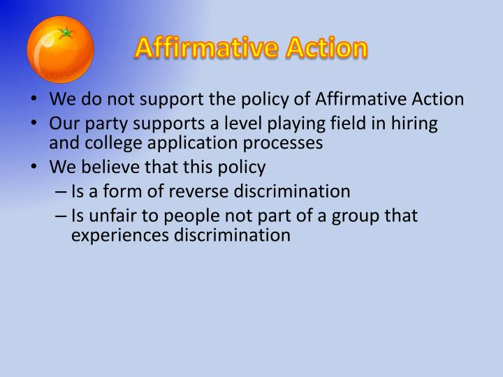 affirmative action is discrimination in a new Affirmative action - discrimination in a new form the roots of affirmative action can be traced back to the passage of the 1964 civil rights act where legislation redefined public and private behavior the act states that to discriminate in private is legal, but anything regarding business or public discr.
