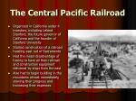 the central pacific railroad