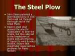 the steel plow