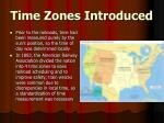 time zones introduced