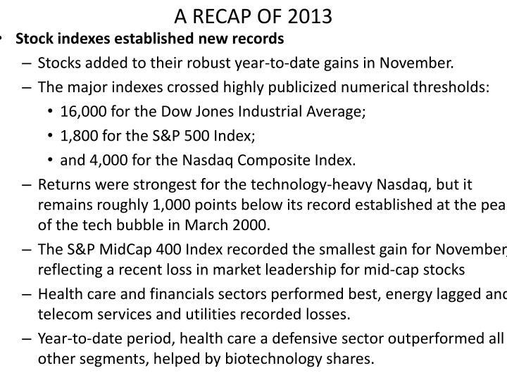 A recap of 2013