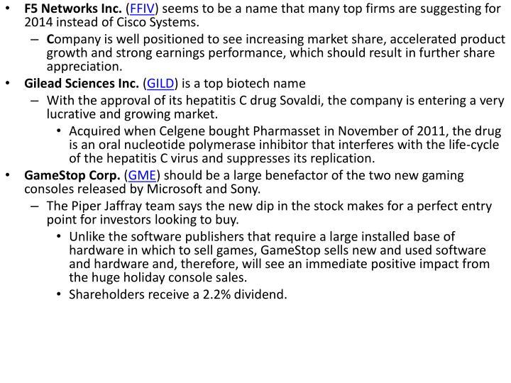F5 Networks Inc.