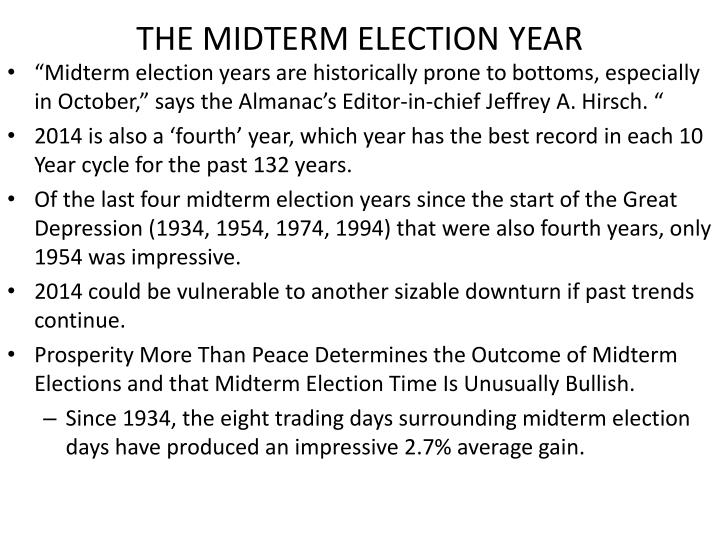 THE MIDTERM ELECTION YEAR