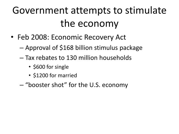 700 billion economic stimulus bailout package essay Below is the explanation of the multiplier effect  team to inject as much as $700 billion of goverment spending  from a new fiscal stimulus package.