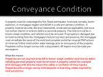 conveyance condition