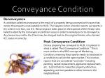 conveyance condition14