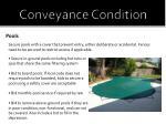 conveyance condition7
