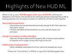 highlights of new hud ml