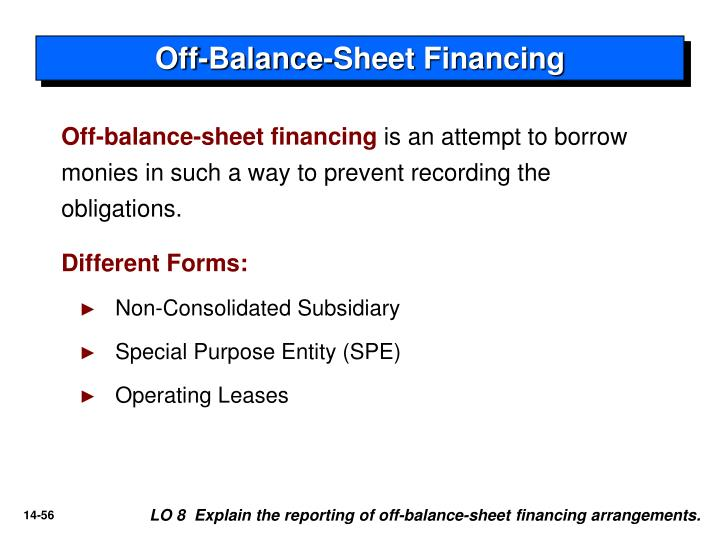 Off-Balance-Sheet Financing