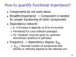 how to quantify functional importance