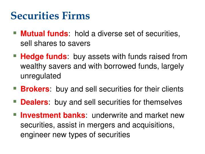 Securities firms