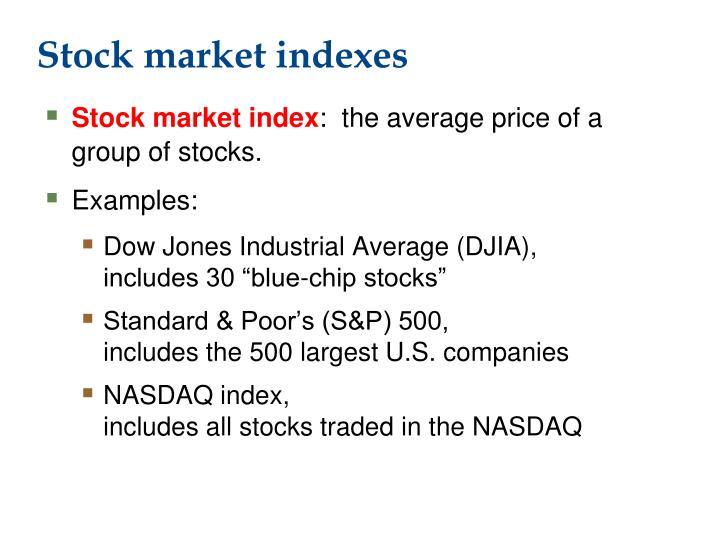 Stock market indexes