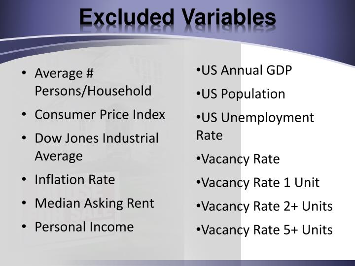 Excluded Variables