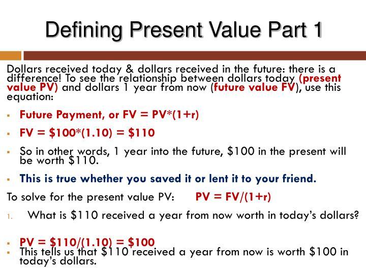 Defining Present