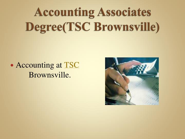 Accounting associates degree tsc brownsville