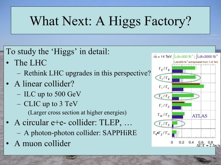 What Next: A Higgs Factory?