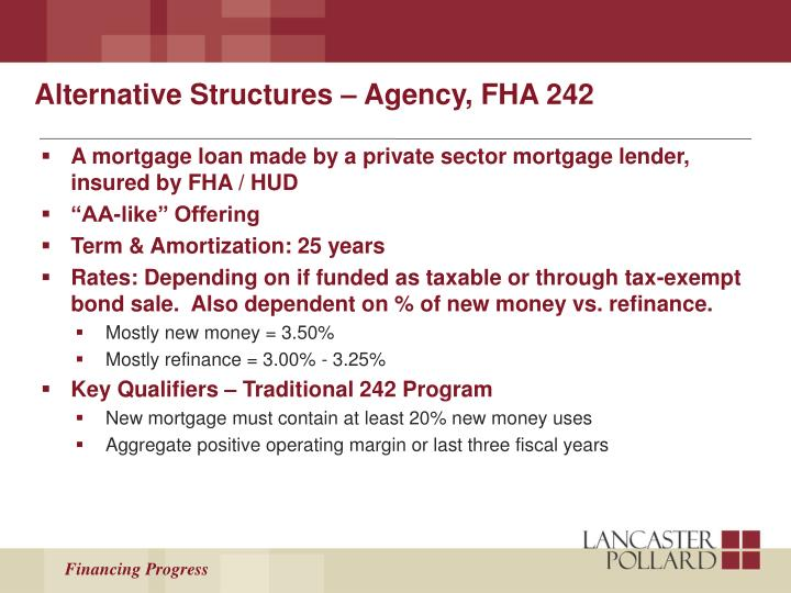 Alternative Structures – Agency, FHA 242