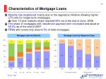 characteristics of mortgage loans