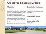 objectives success criteria
