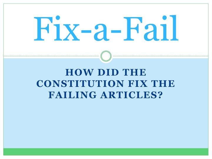 Fix-a-Fail