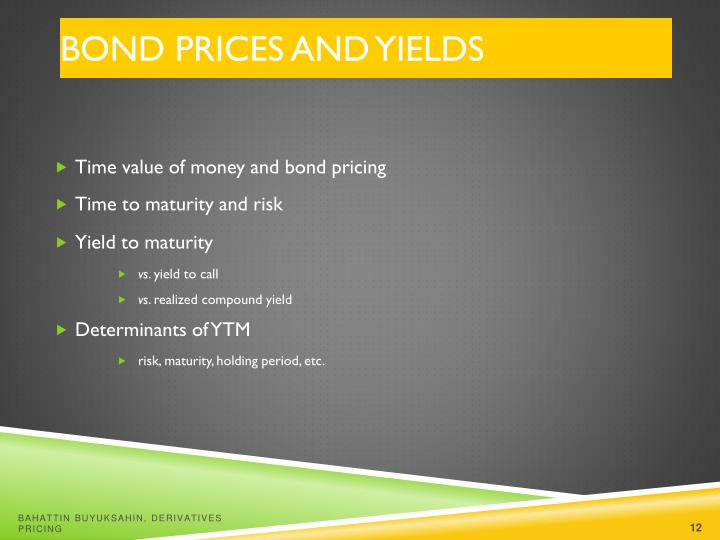 Bond Prices and Yields