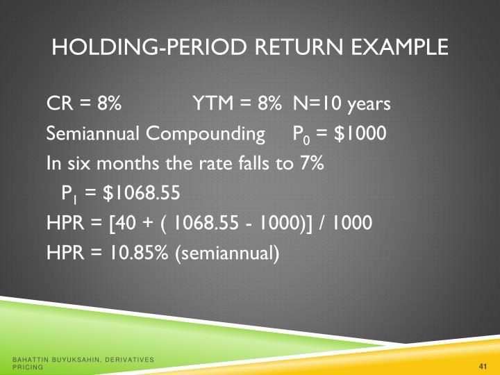 Holding-Period Return Example