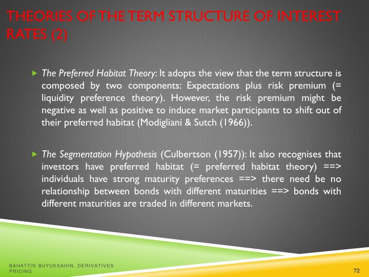 Theories of the Term Structure of Interest Rates (2)