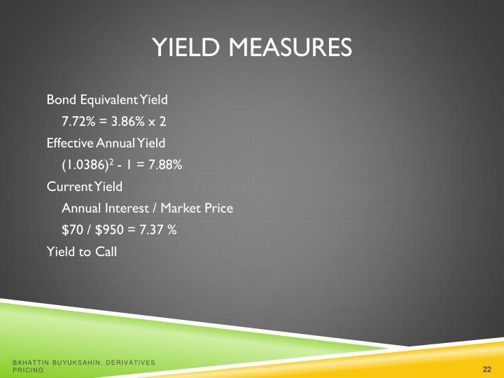 Yield Measures