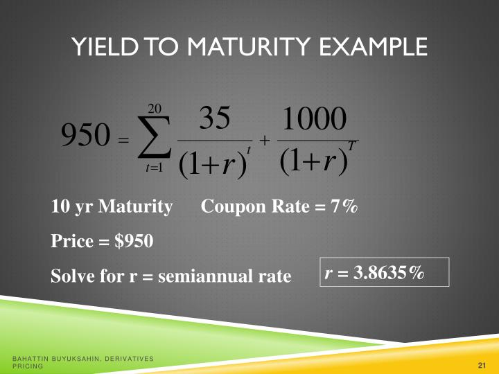 Yield to Maturity Example