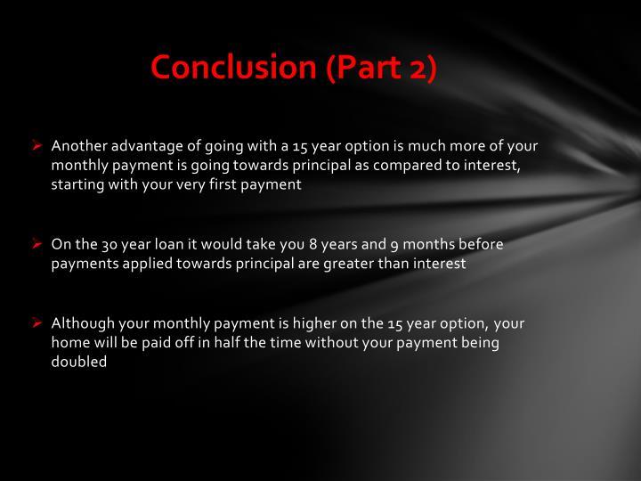 Conclusion (Part 2)