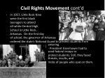 civil rights movement cont d1