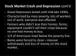 stock market crash and depression cont d4