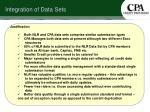 integration of data sets