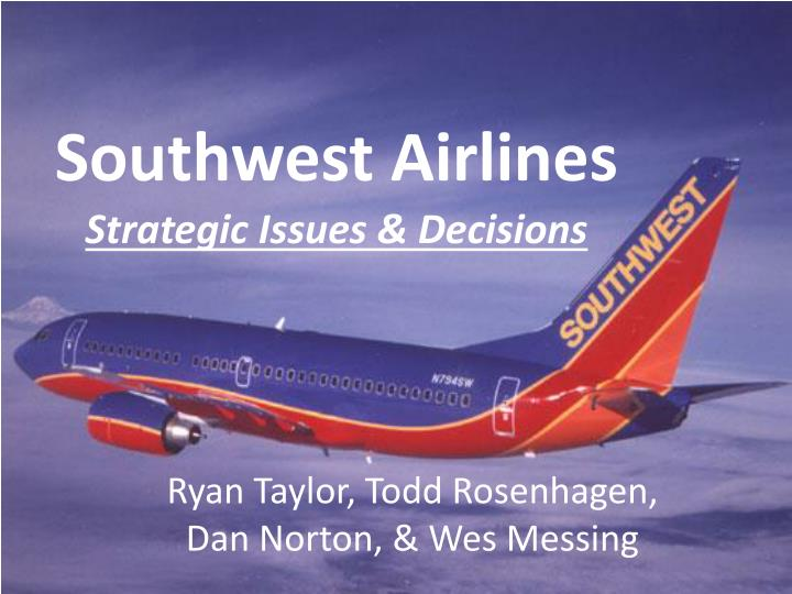 southwest airlines grand strategy matrix The rise of southwest airlines southwest currently has the lowest operating-cost structure in the us domestic airline industry and business strategy.