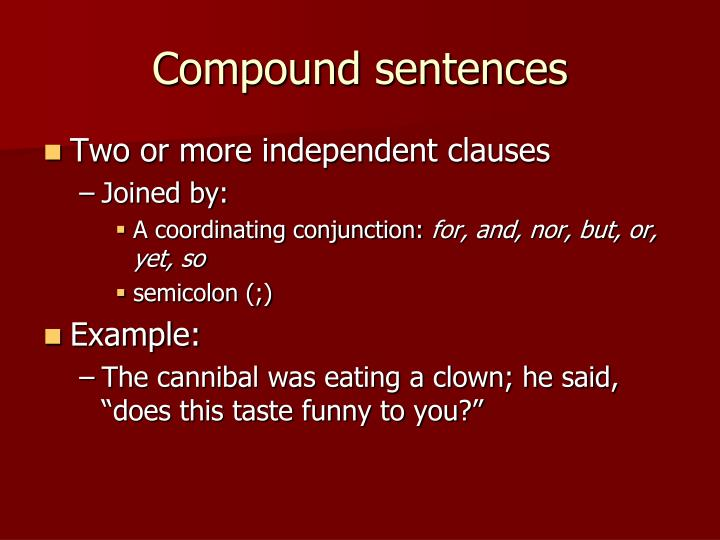 PPT - The Clause and Sentence Classification PowerPoint Presentation ...