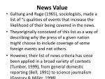 news value